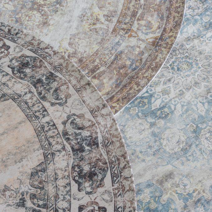 Vloerkleed Viola Rond Antraciet ø160 cm