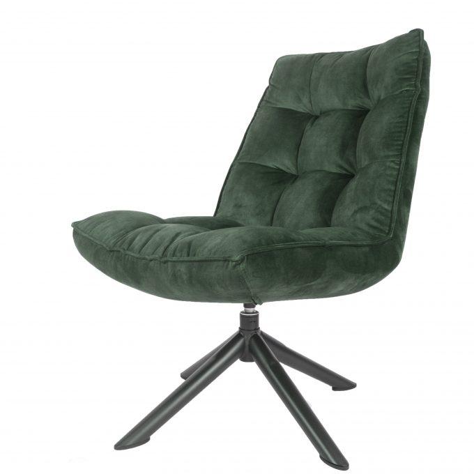 Fauteuil Dorus Adore Velvet - Army Green 29