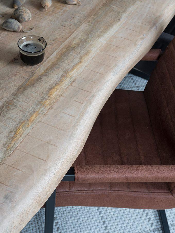 Eettafel Uvra 240 cm - u poot - Mangohout Naturel