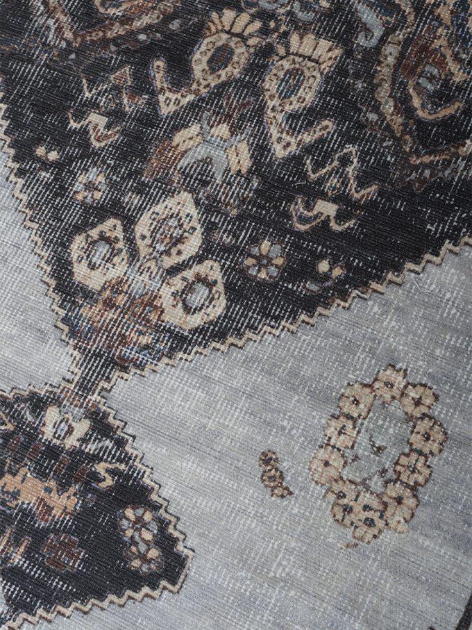 Vloerkleed Karaca Antraciet/Brown 09 - 70 x 140 cm